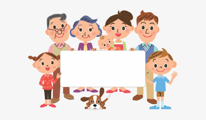 My Family Members, My Family Members, Family, Members - Big Family Free  Cartoon - Free Transparent PNG Clipart Images Download