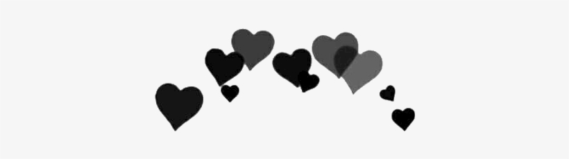 Black Edit And Hearts Image Black Heart Crown Png Transparent