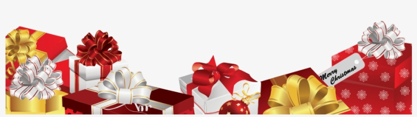 Christmas Presents Png.Christmas Gifts Footer Christmas Gifts Png Transparent Png
