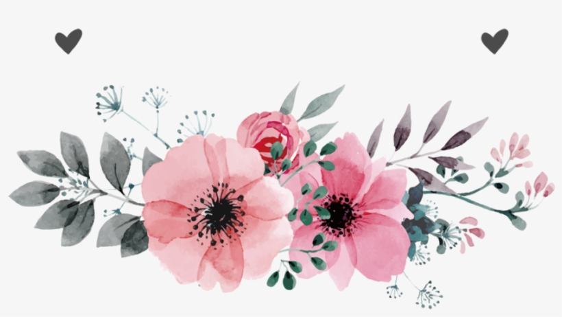 Watercolor Flower Png Free Flower Pink Vector Png Transparent Png