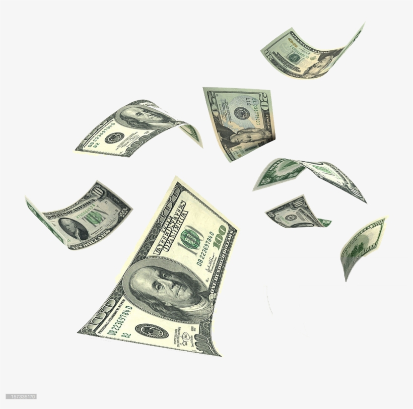falling money png background clipart money falling
