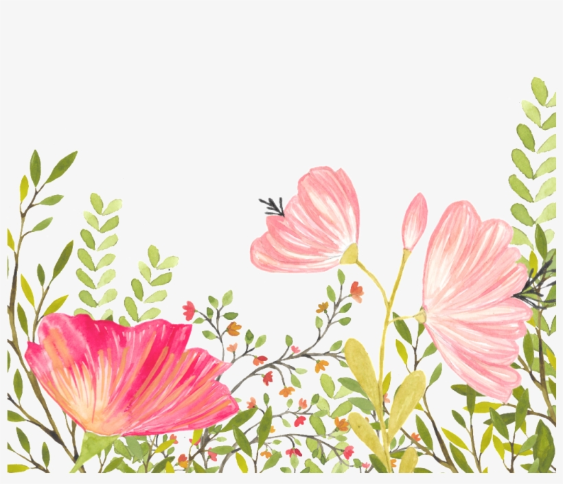 This Backgrounds Is Floral Background Free Vector About - Mallow