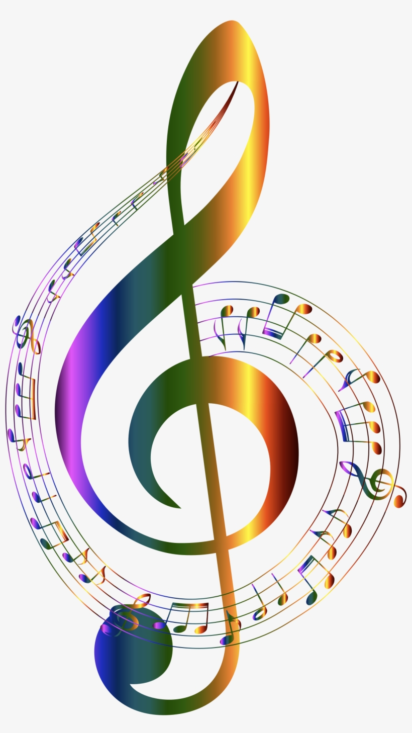 Chromatic Musical Notes Typography No Background By - Transparent Background Music Notes Transparent PNG - 1354x2342 - Free Download on NicePNG
