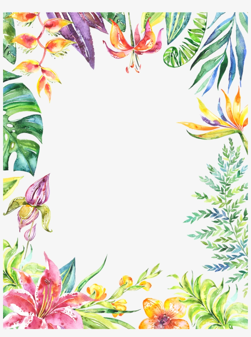 Flower Watercolor Background Clipart Watercolor Painting Marmont