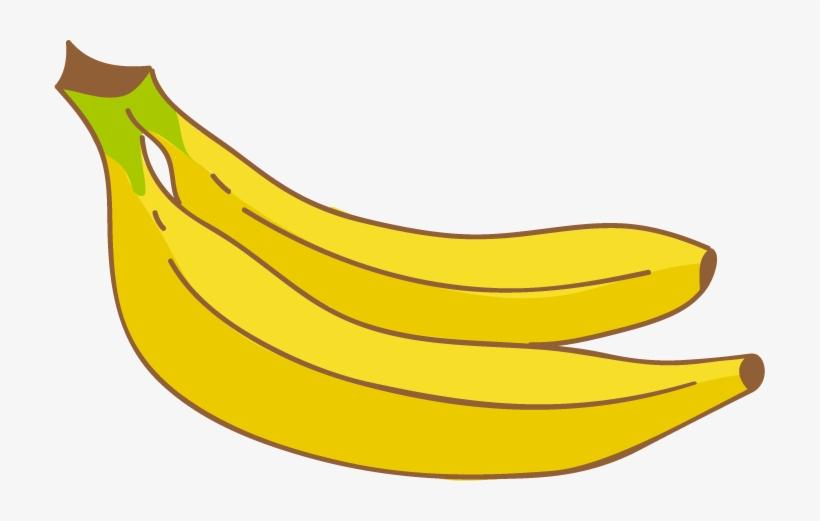 Banana drawing. Banner freeuse library clipart