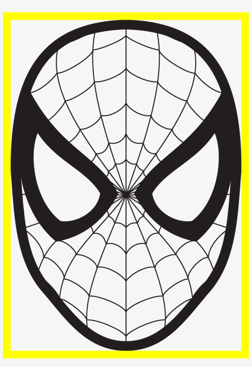 Amazing Spiderman Logo Mask Wall Fun Stuff Cara De Spiderman Para