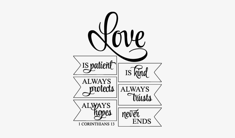 Download Free Quotes Love Is Patient Love Is Kind Png Transparent