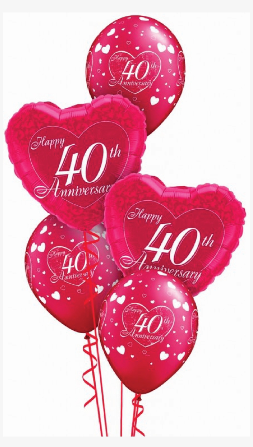 Ruby 40 Wedding Anniversary Balloon Display Happy 40th Anniversary Transparent Png 2501x3334 Free Download On Nicepng