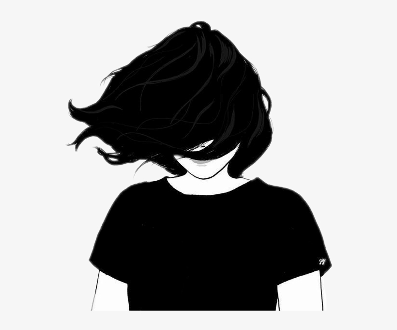 Girl Silhouette Tumblr Png Transparent PNG - 556x601 - Free ...