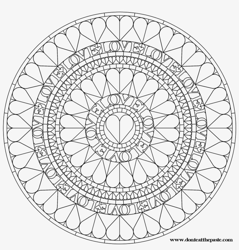 Love Heart Mandala Mandala Coloring Pages Pattern Mandala Love Heart Coloring Page Transparent Png 1600x1600 Free Download On Nicepng