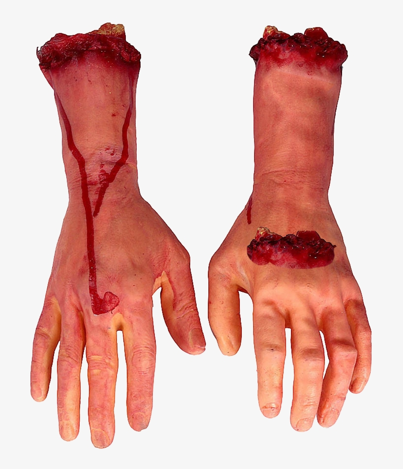 Hand Arm Blood Finger - Scary Hands For Halloween