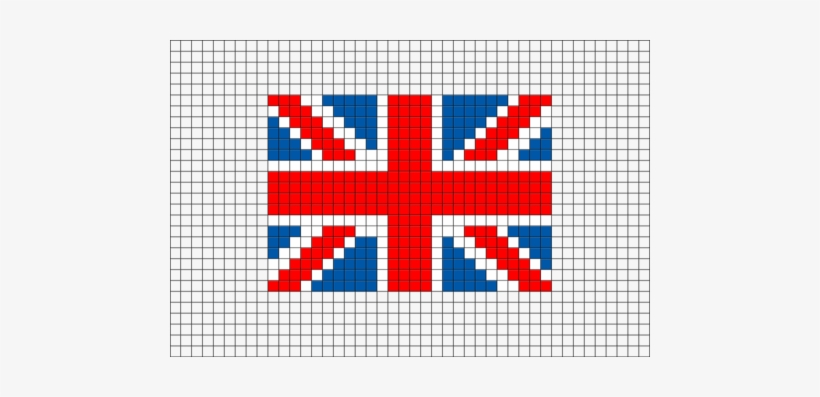 Flag Of United Kingdom Pixel Art Pixel Art Templates Minecraft