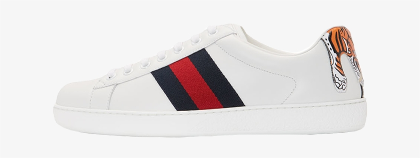 9b3d056b624 Shop 0f6b6 E2f8c Gucci New Ace Tiger White - Gucci Shoes Png ...