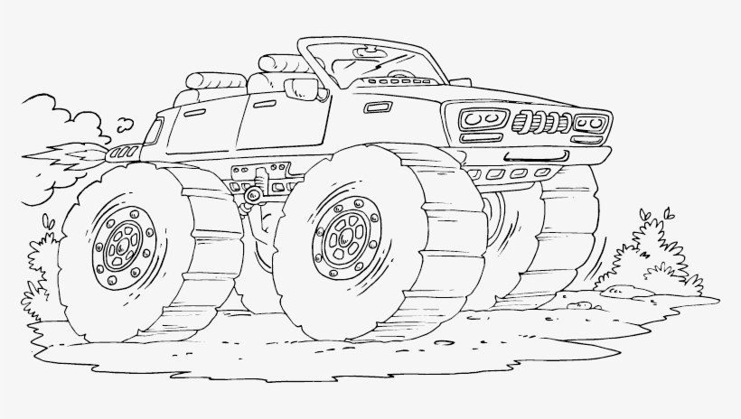 Maximum Destruction Monster Truck coloring page | Free Printable ... | 464x820