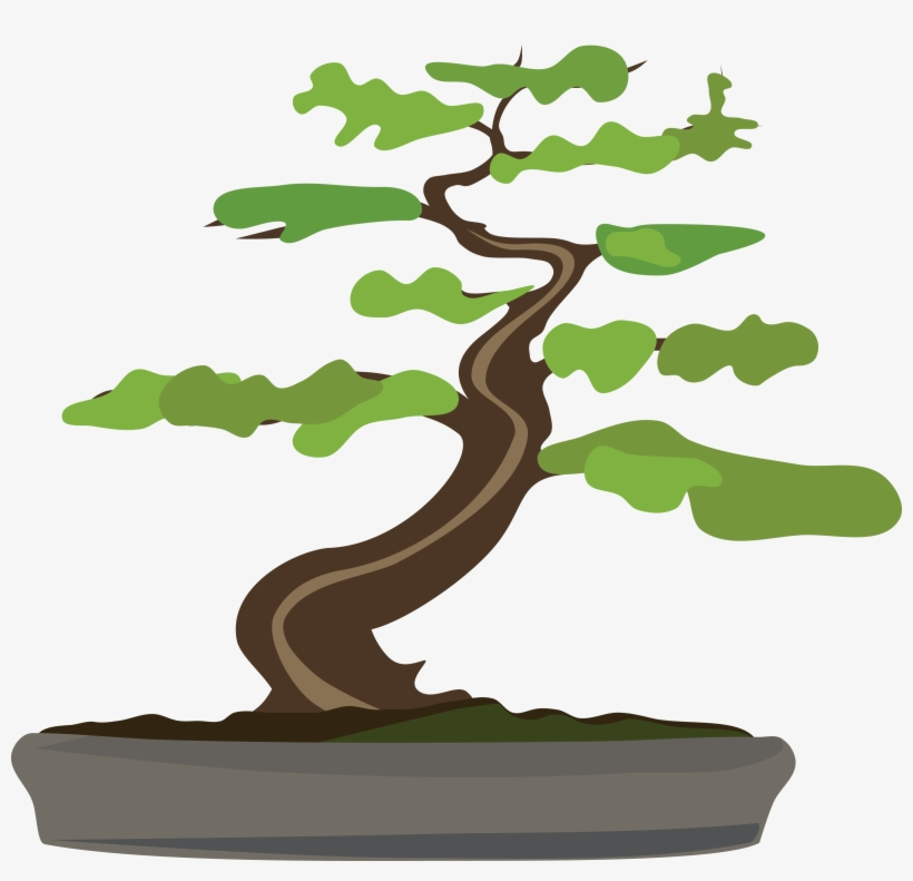 Free Clipart Of A Bonsai Tree Bonsai Tree Clipart Transparent Transparent Png 4000x3668 Free Download On Nicepng
