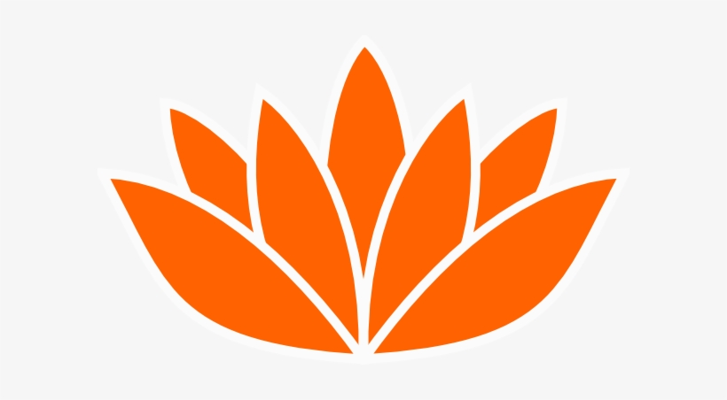 Lotus Flower Silhouette Vector Png Graphic Free Library Orange