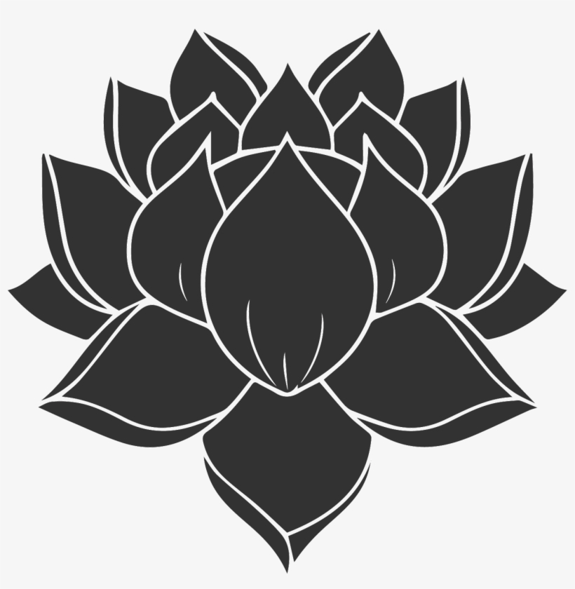 Karoo Retreat All Black Lotus Flower Tattoo Transparent Png
