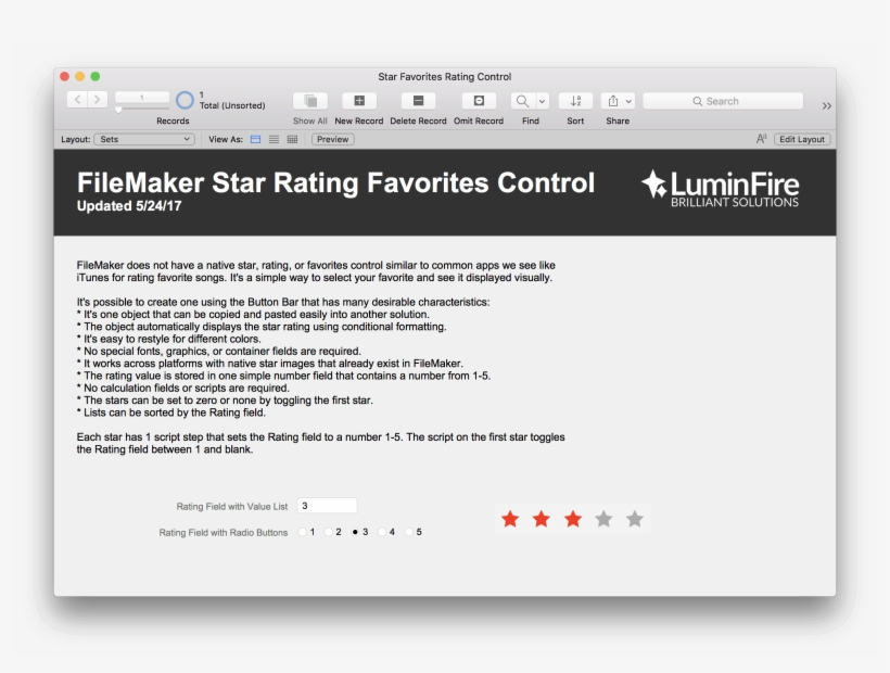 Filemaker Star Rating And Favorite Control - React Bootstrap