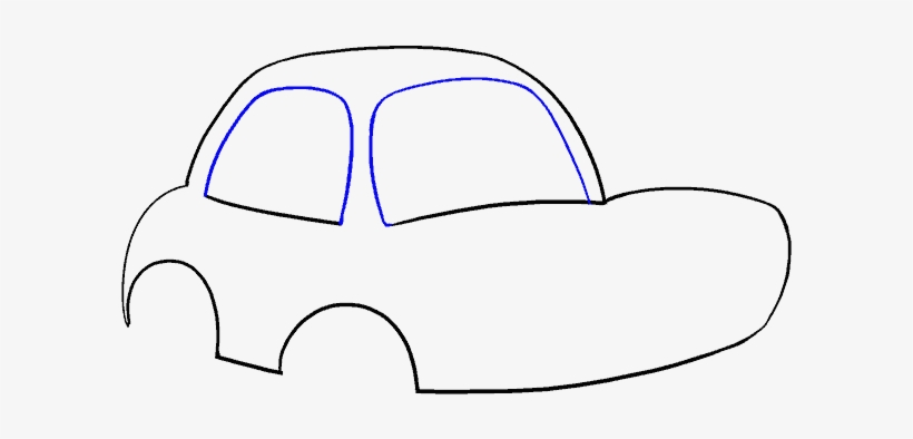 Point Drawing Car Easy To Draw Cartoon Cars Transparent Png
