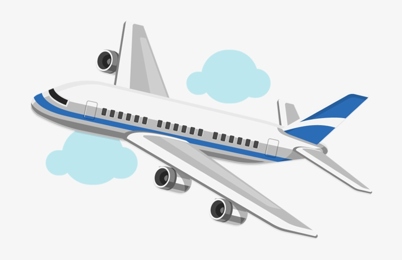 Cartoon Airplane On Blue Sky Airplane Cartoon No Background