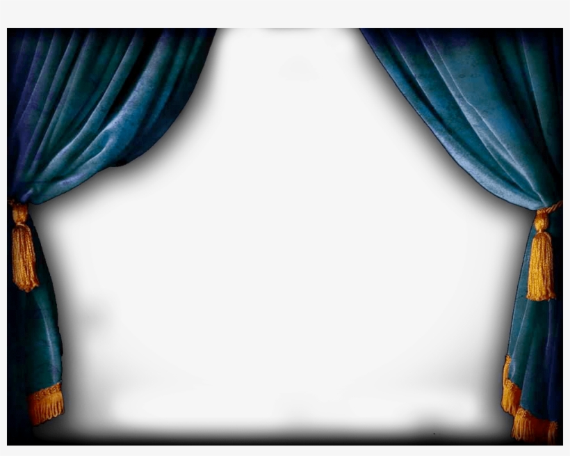 Blue Theatre Curtains Png Transparent PNG - 980x735 - Free
