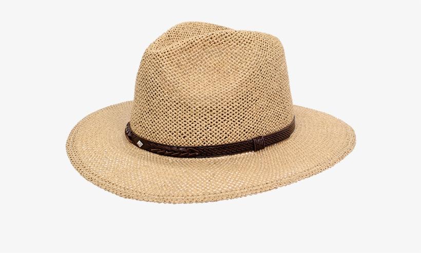 3fe59a3806c0a Bastian Straw Pinch Crown Safari Fedora - Golf Wide Brimmed Hat For ...