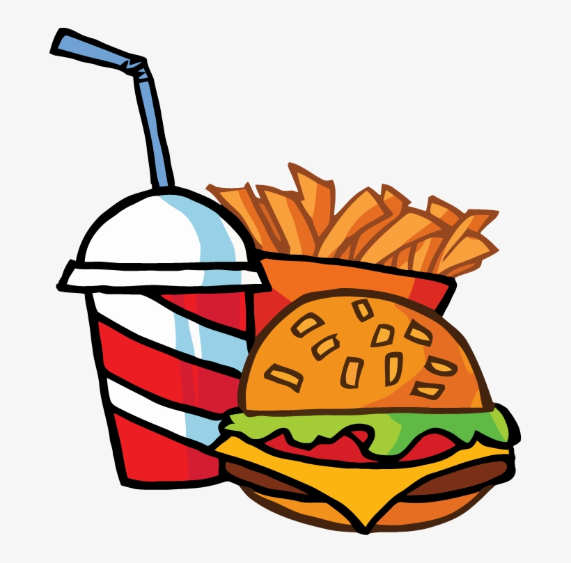 food fast drink fries french cheeseburger cartoon tattoo transparent nicepng