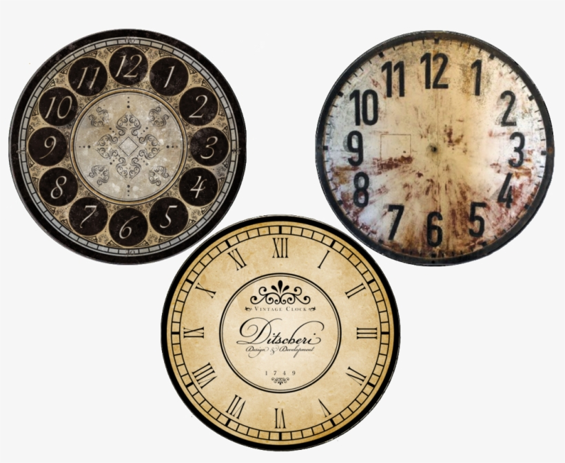 here are the click to enlarge images to use under clear clock face