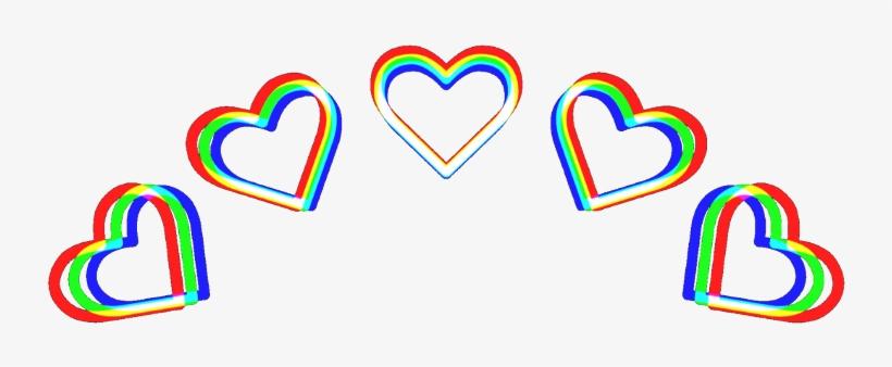 3d Heart Crown Rainbow Green Red Blue Heartcrown Aesthe ...