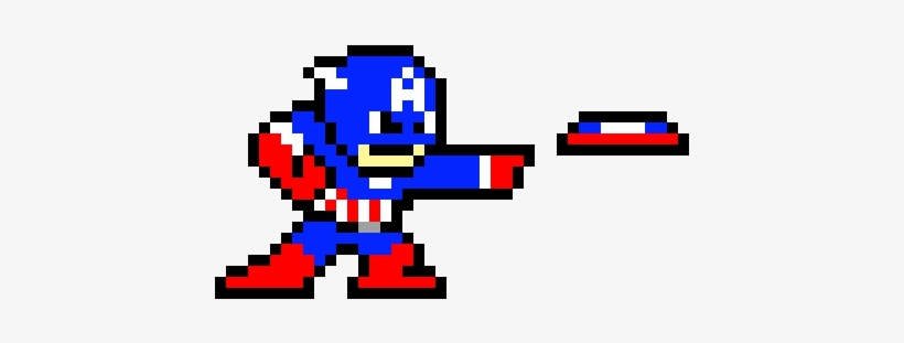 Captain America Shield Throw Captain America Perler Bead Pattern Transparent Png 500x330 Free Download On Nicepng