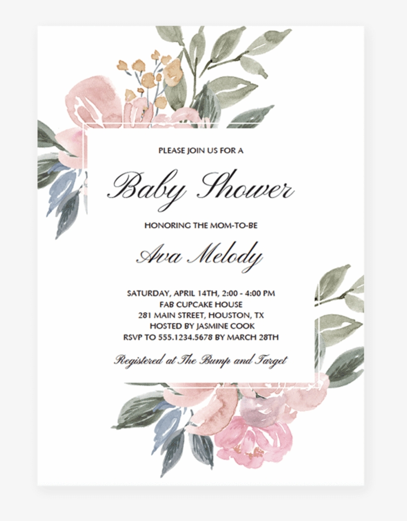 Wedding Invitation Templates Png - Floral Watercolor Wedding Invitations  Transparent PNG - 819x1024 - Free Download on NicePNG