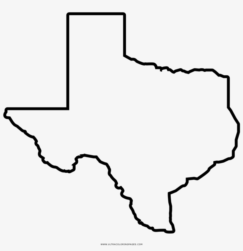 Texas Map Coloring Page