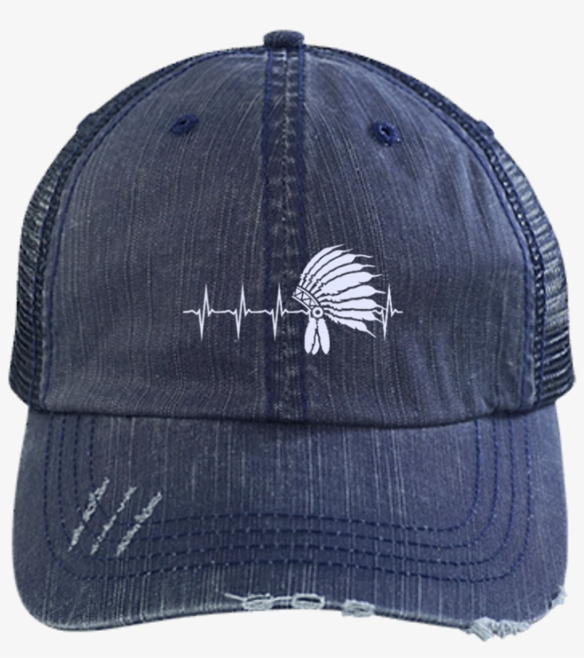 Native Inspired Heart Beating Headdress Cap - Shit To Fit Trucker ... a17a5118c881