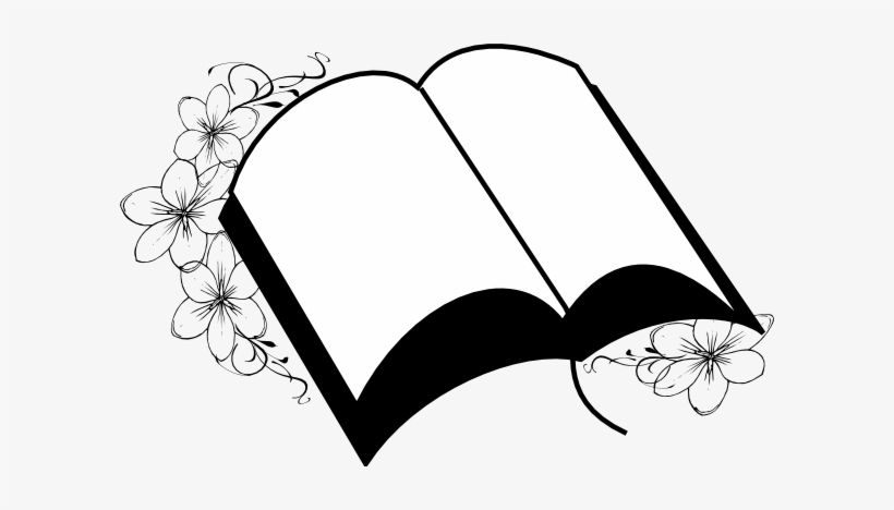 Flower black and white wedding. Bible clip art at