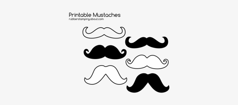 photo relating to Free Printable Mustache known as Absolutely free Printable Mustache Photos For Your Craft - Moustache
