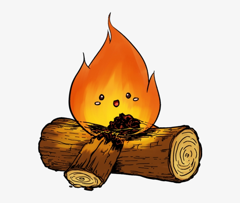 Fire cute. Campfire clipart transparent png
