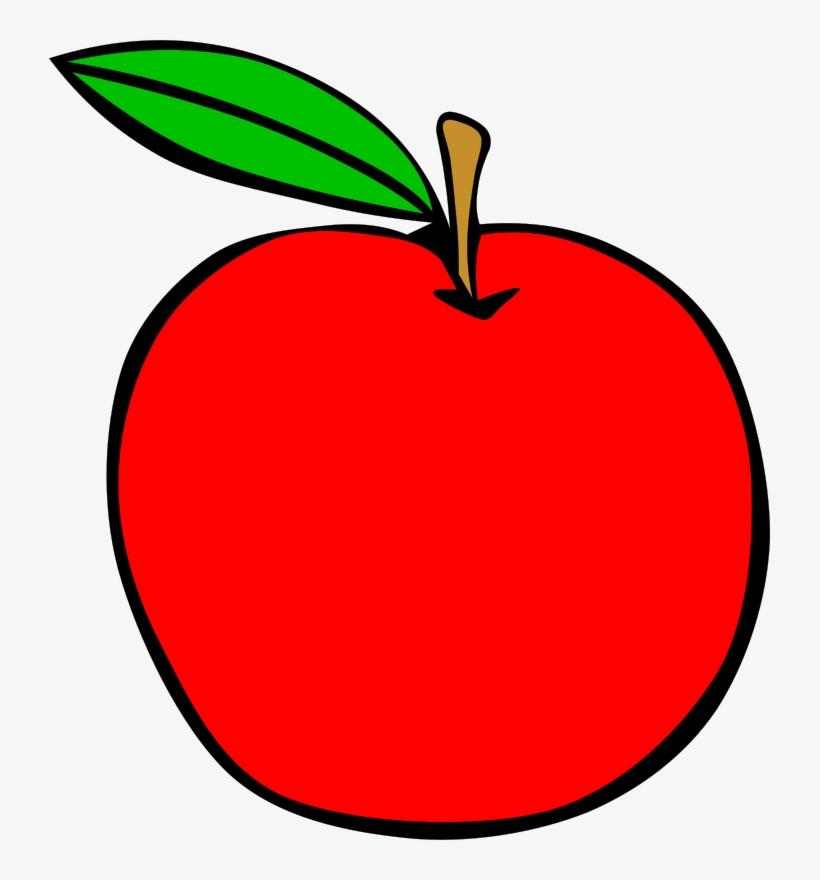 Apple cartoon. Red food fruit menu
