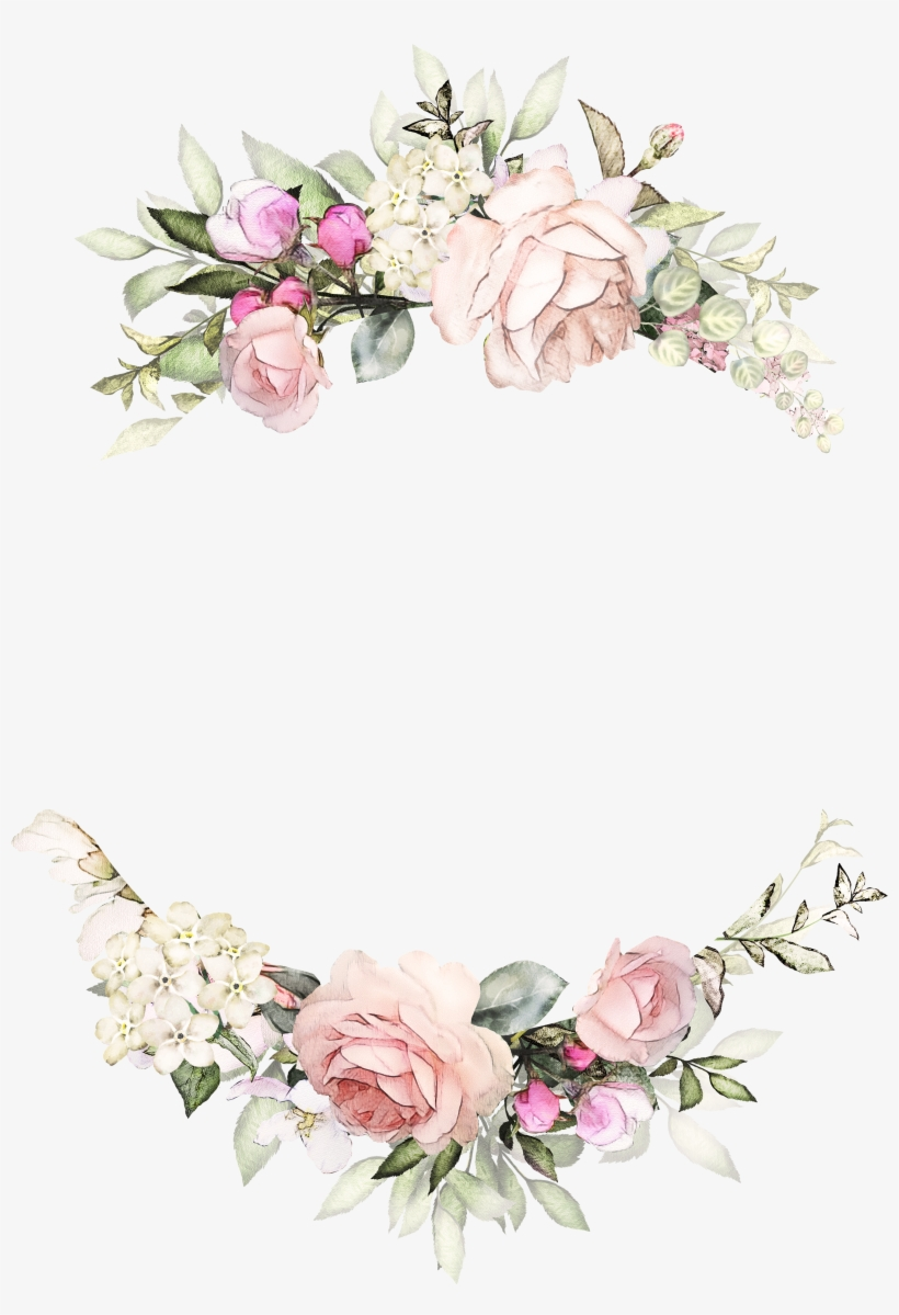 H746a Floral Background For Wedding Invitation Transparent Png