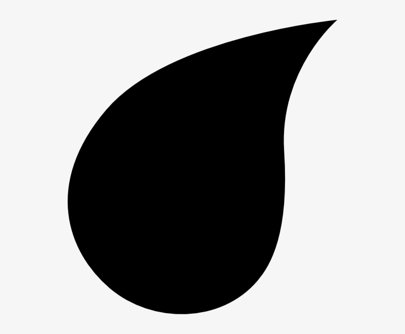 Collection Of Teardrop - Teardrop Silhouette Transparent PNG