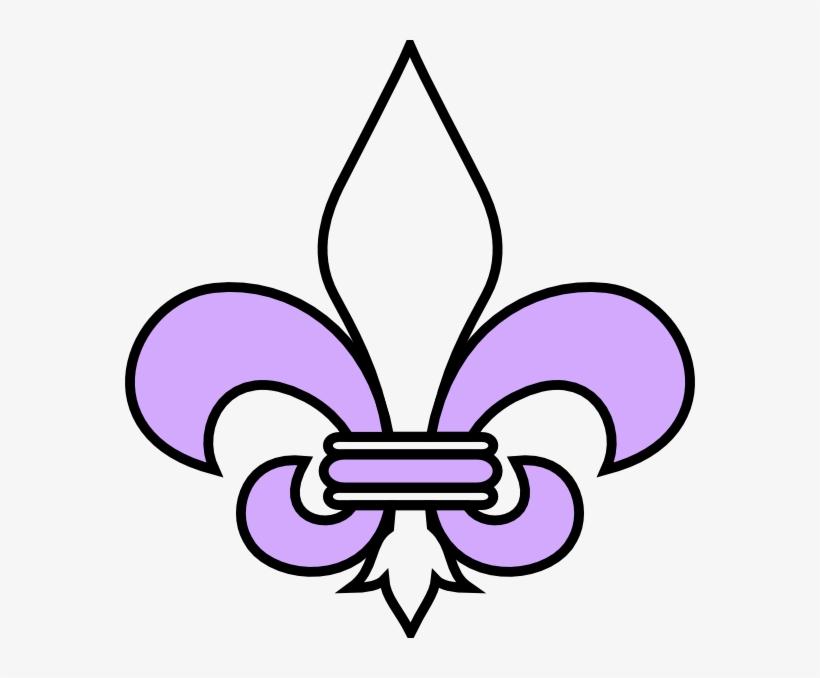 Purple Clipart Fleur De Lis Flor De Lis Png Transparent Png 570x598 Free Download On Nicepng