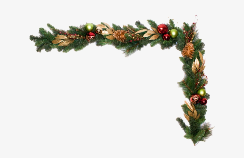 Clipart Black And White Garland Transparent Background Christmas