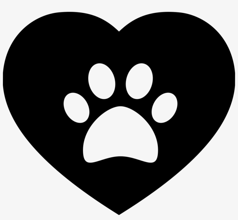 Download Dog Pawprint On A Heart Svg Png Icon Free Download - Heart ...