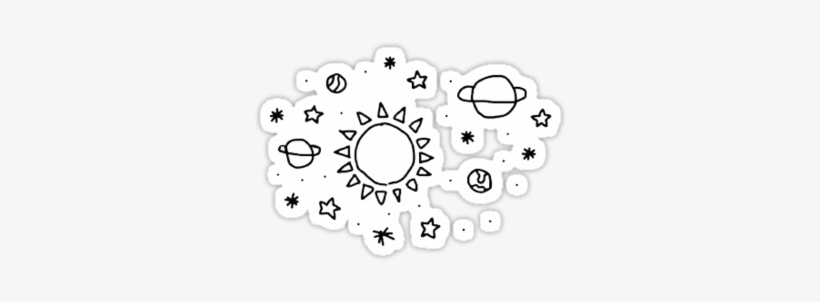 Tumblr Space Stars Sticker By Lucydeano Aesthetic Stickers