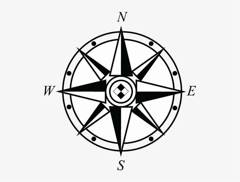North And Maps Rose - Compass Rose Logo Png Transparent PNG ...
