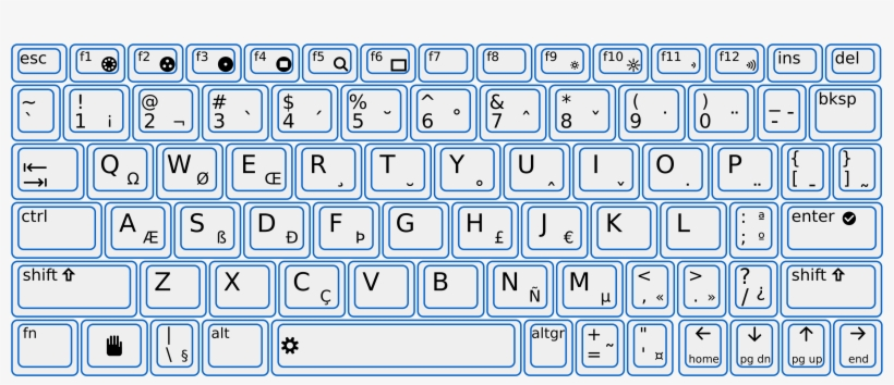 photo relating to Printable Keyboard titled Easiest Photographs Of Printable Keyboard Design and style Template - Keyboard
