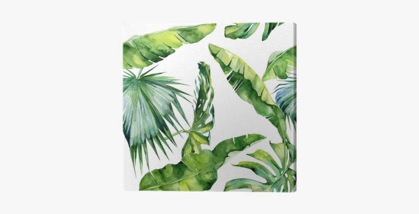 Seamless Watercolor Illustration Of Tropical Leaves Dense Tropical Leaves Transparent Png 400x400 Free Download On Nicepng Watercolor bouquets with tropical plants, leaves and strelitzia flowers. nicepng