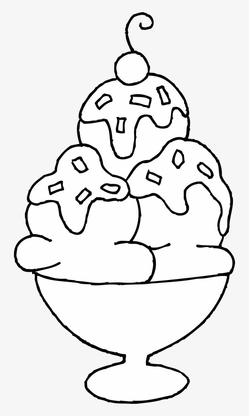- Ice Cream Sundae Coloring Page - Draw An Ice Cream Sundae Transparent PNG -  728x1287 - Free Download On NicePNG