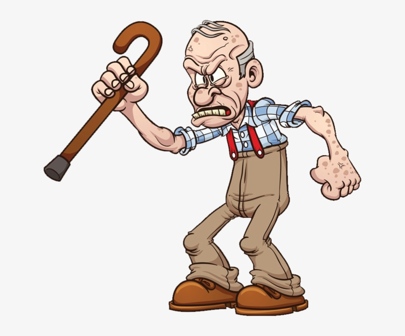 Share This Image Angry Old Man Cartoon Transparent Png 645x600