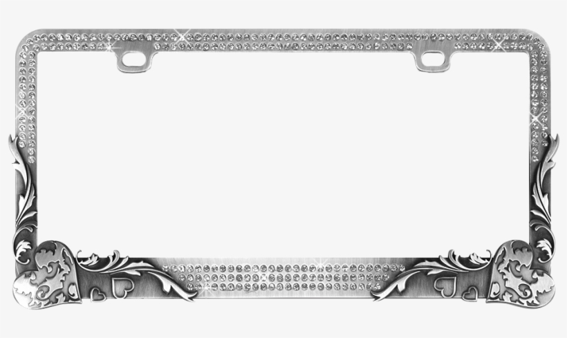 RED HEARTS LOVE Metal License Plate Frame