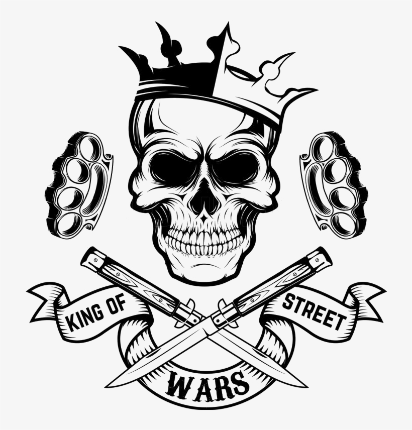 King Skull Crown Street Wars Brassknuckles Graphic Skull With Crown Drawing Transparent Png 719x800 Free Download On Nicepng